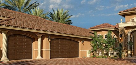Three Car Garage With New Custom Garage Doors