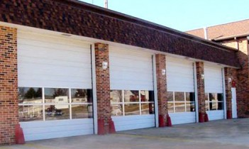 commercial garage door firestation
