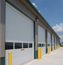 row of overhead doors