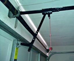 newly fixed garage door latch