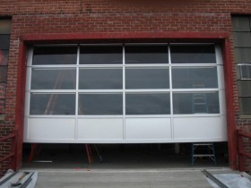 commercial garage door oprening