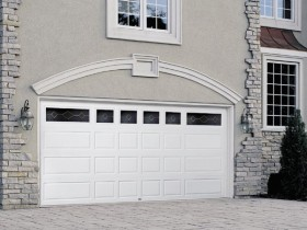 Roll Up Garage Door With Decorative Inserts