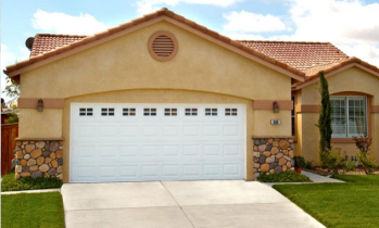 White Two Car Garage Door