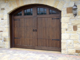 Arched Wooden Double Door