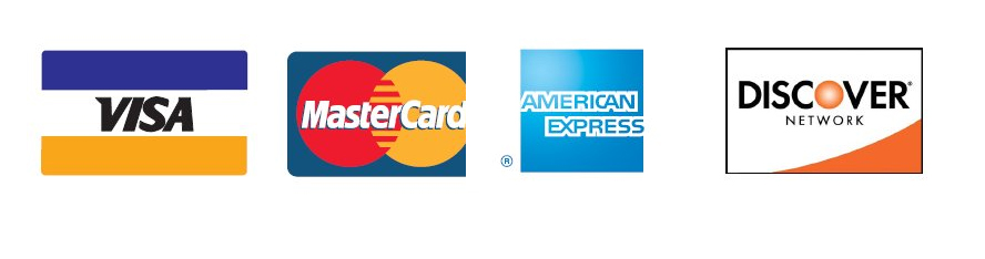 credit card logos for accepted forms of payment