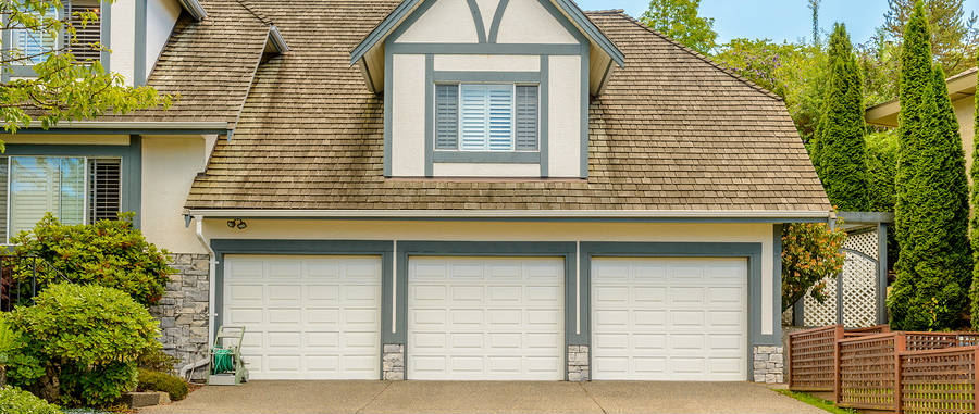 new 3 door garage