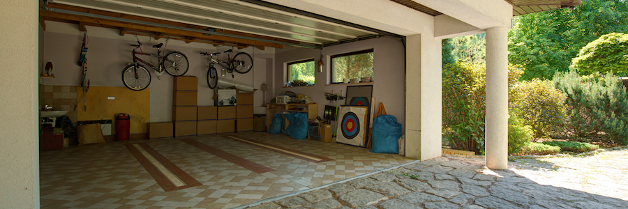 An organized garage.